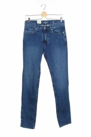 Мъжки дънки Mango, Размер S, Цвят Син, 99% памук, 1% еластан, Цена 20,70лв.