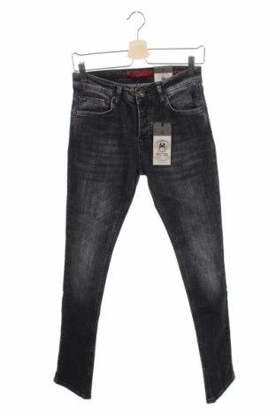 Мъжки дънки RNT23 Jeans, Размер S, Цвят Сив, 98% памук, 2% еластан, Цена 24,30лв.