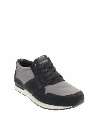 Мъжки обувки Levi's, Размер 44, Цвят Сив, Текстил, естествен велур, Цена 90,35лв.