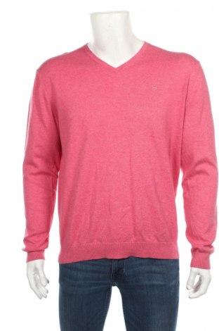 Мъжки пуловер Basefield, Размер M, Цвят Розов, 80% памук, 17% полиамид, 3% еластан, Цена 6,50лв.