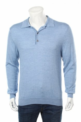Ανδρικό πουλόβερ Christian Berg, Μέγεθος L, Χρώμα Μπλέ, 50% μαλλί, 50% πολυακρυλικό, Τιμή 45,88€