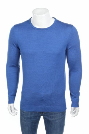 Мъжки пуловер Selected Homme, Размер S, Цвят Син, 100% вълна, Цена 20,47лв.