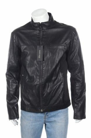 Мъжко кожено яке Guess By Marciano, Размер XL, Цвят Черен, Еко кожа, текстил, Цена 138,60лв.