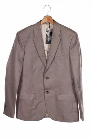 Мъжко сако Cyrillus, Размер M, Цвят Кафяв, 58% лен, 42% памук, Цена 26,85лв.