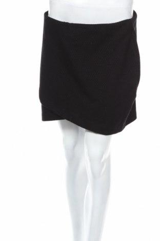 Φούστα H&M, Μέγεθος M, Χρώμα Μαύρο, 60% βαμβάκι, 38% πολυεστέρας, 2% ελαστάνη, Τιμή 2,78€