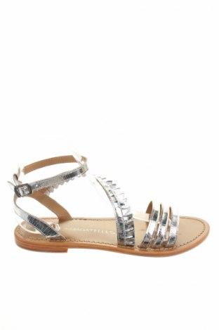 Sandale Les Bagatelles, Mărime 39, Culoare Argintiu, Piele naturală, Preț 107,90 Lei