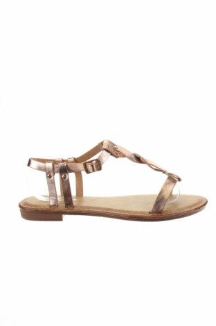 Sandale R and Be, Mărime 39, Culoare Auriu, Piele ecologică, Preț 55,27 Lei