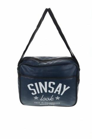Чанта Sinsay, Цвят Син, Еко кожа, Цена 20,16лв.