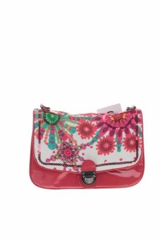 Чанта за кръст Desigual, Цвят Червен, Полиуретан, текстил, Цена 23,98лв.