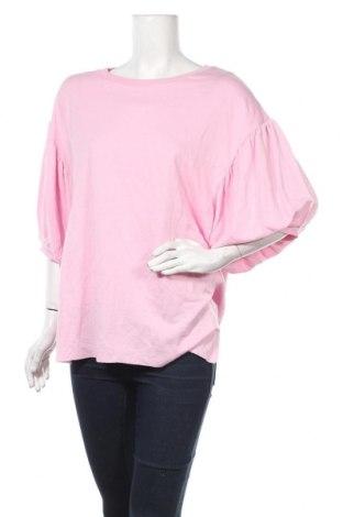 Γυναικεία μπλούζα Bershka, Μέγεθος M, Χρώμα Ρόζ , 65% βισκόζη, 35% βαμβάκι, Τιμή 5,20€