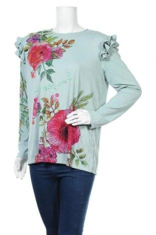 Γυναικεία μπλούζα Desigual, Μέγεθος XL, Χρώμα Πράσινο, 95% πολυεστέρας, 5% ελαστάνη, Τιμή 19,73€