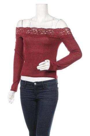 Γυναικεία μπλούζα H&M Divided, Μέγεθος S, Χρώμα Κόκκινο, Πολυεστέρας, πολυαμίδη, ελαστάνη, Τιμή 3,77€