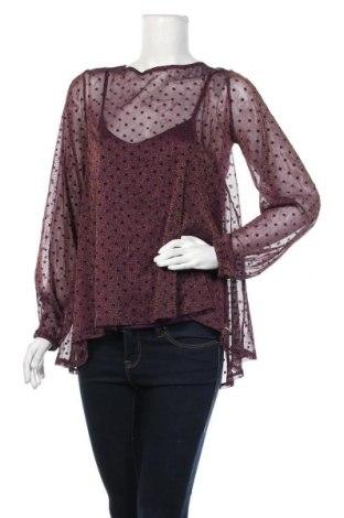 Γυναικεία μπλούζα Mohito, Μέγεθος M, Χρώμα Βιολετί, 90% πολυαμίδη, 10% μεταλλικά νήματα, Τιμή 10,39€