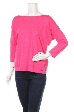 Γυναικεία μπλούζα Mohito, Μέγεθος M, Χρώμα Ρόζ , 60% βισκόζη, 38% βαμβάκι, 2% μεταλλικά νήματα, Τιμή 10,05€