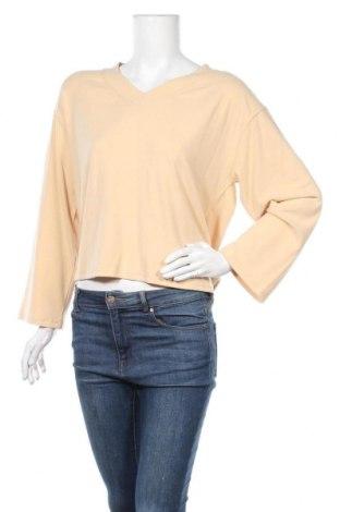 Γυναικεία μπλούζα Pieces, Μέγεθος M, Χρώμα  Μπέζ, 57% βισκόζη, 38% πολυεστέρας, 5% ελαστάνη, Τιμή 12,63€