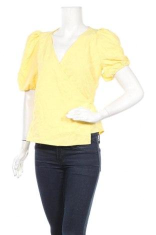 Γυναικεία μπλούζα Pieces, Μέγεθος M, Χρώμα Κίτρινο, 95% πολυεστέρας, 5% ελαστάνη, Τιμή 4,42€