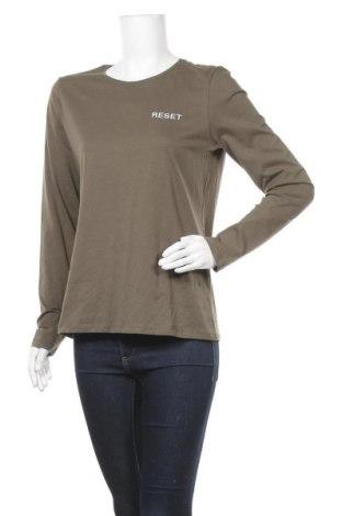 Γυναικεία μπλούζα Pieces, Μέγεθος M, Χρώμα Πράσινο, Βαμβάκι, Τιμή 5,81€