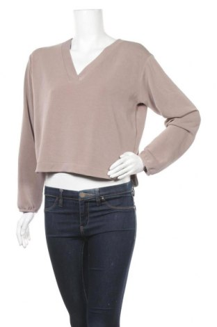 Γυναικεία μπλούζα Pieces, Μέγεθος M, Χρώμα  Μπέζ, 48% πολυεστέρας, 46% μοντάλ, 6% ελαστάνη, Τιμή 11,34€