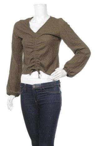 Γυναικεία μπλούζα Pieces, Μέγεθος M, Χρώμα Πράσινο, 99% πολυεστέρας, 1% ελαστάνη, Τιμή 11,34€