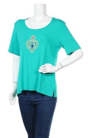 Дамска блуза Pompoos Design By Harald Gloockler, Размер XL, Цвят Зелен, 95% вискоза, 5% еластан, Цена 18,48лв.