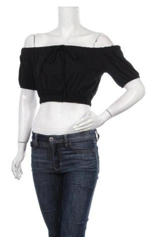 Дамска блуза Stylewise, Размер S, Цвят Черен, 95% памук, 5% еластан, Цена 12,80лв.