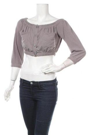 Дамска блуза Top Fashion, Размер S, Цвят Сив, Цена 25,50лв.