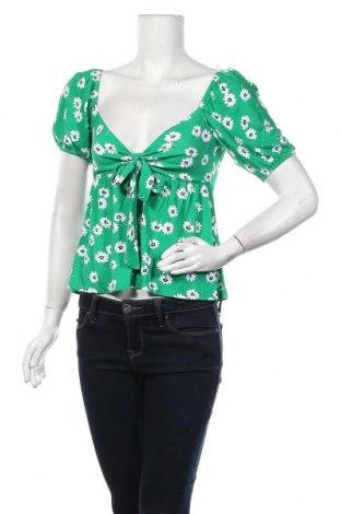 Дамска блуза Top Fashion, Размер S, Цвят Зелен, Цена 25,50лв.
