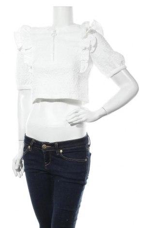 Γυναικεία μπλούζα Zara, Μέγεθος S, Χρώμα Λευκό, 97% πολυεστέρας, 3% ελαστάνη, Τιμή 9,31€
