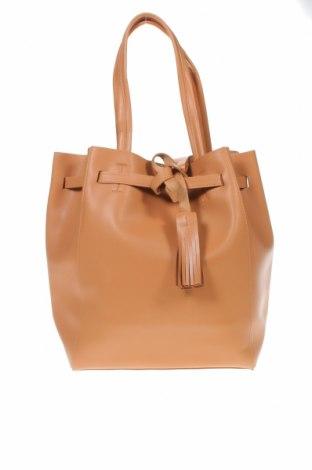 Дамска чанта Reserved, Цвят Кафяв, Еко кожа, Цена 44,25лв.