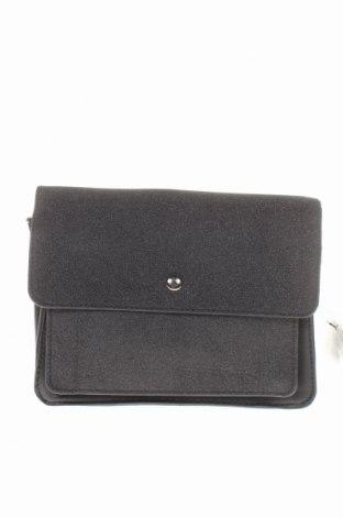 Дамска чанта Cropp, Цвят Черен, Еко кожа, текстил, Цена 10,92лв.