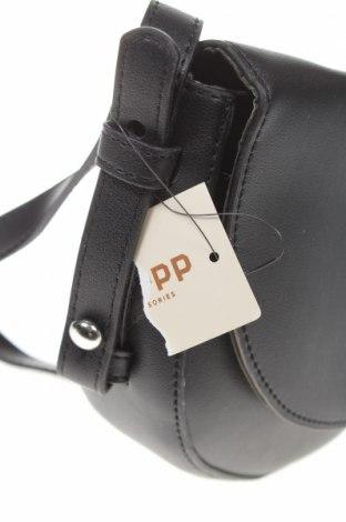 Дамска чанта Cropp, Цвят Черен, Еко кожа, Цена 21,45лв.