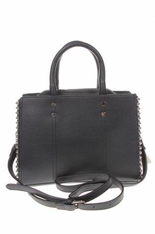 Дамска чанта Cropp, Цвят Черен, Еко кожа, Цена 34,22лв.