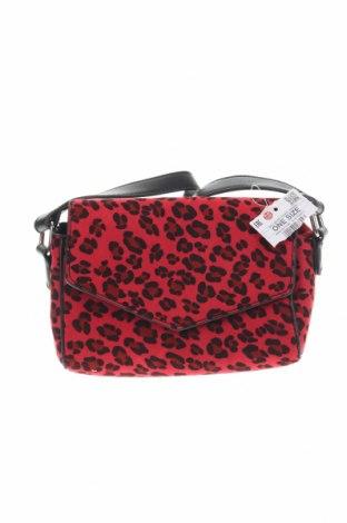 Дамска чанта House, Цвят Червен, Текстил, еко кожа, Цена 20,16лв.