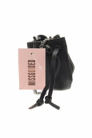 Дамска чанта Missguided, Цвят Черен, Еко кожа, Цена 44,25лв.