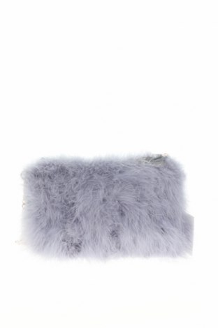 Дамска чанта Missguided, Цвят Син, Естествени пера, Цена 33,00лв.
