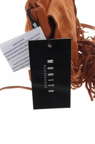 Дамска чанта Mohito, Цвят Кафяв, Естествен велур, Цена 35,60лв.