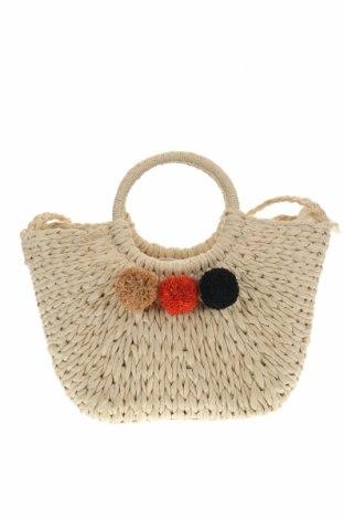 Дамска чанта Parfois, Цвят Екрю, Други тъкани, Цена 42,00лв.