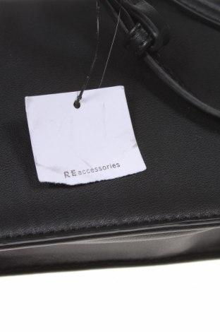 Дамска чанта Reserved, Цвят Черен, Еко кожа, Цена 22,05лв.