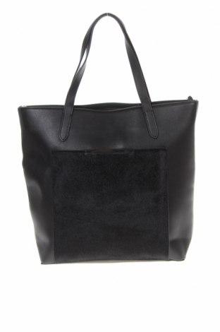 Дамска чанта Reserved, Цвят Черен, Еко кожа, текстил, Цена 39,00лв.