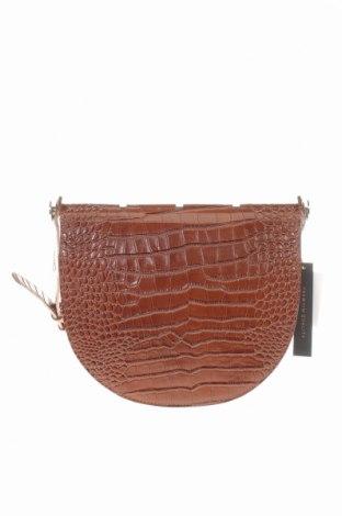 Дамска чанта Reserved, Цвят Кафяв, Естествена кожа, Цена 48,95лв.