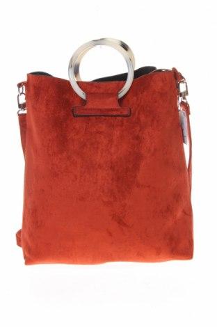 Дамска чанта Reserved, Цвят Червен, Текстил, Цена 51,75лв.