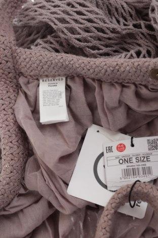 Дамска чанта Reserved, Цвят Пепел от рози, Текстил, Цена 44,25лв.