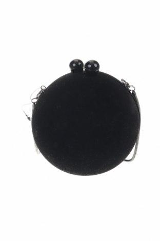 Дамска чанта Reserved, Цвят Черен, Текстил, Цена 28,32лв.