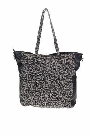 Дамска чанта Sinsay, Цвят Сив, Текстил, еко кожа, Цена 29,76лв.