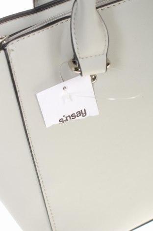 Дамска чанта Sinsay, Цвят Сив, Еко кожа, Цена 26,55лв.