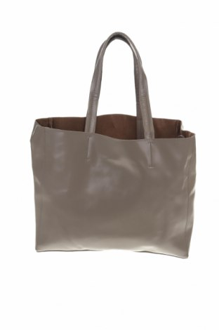 Дамска чанта Sinsay, Цвят Сив, Еко кожа, Цена 28,60лв.