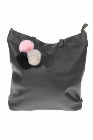 Дамска чанта Sinsay, Цвят Черен, Еко кожа, Цена 29,67лв.