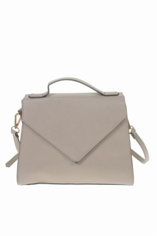 Дамска чанта Sinsay, Цвят Сив, Еко кожа, Цена 15,36лв.