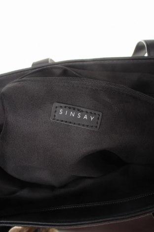 Дамска чанта Sinsay, Цвят Черен, Еко кожа, Цена 26,00лв.