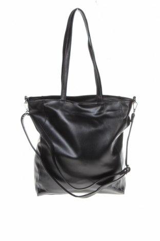 Дамска чанта Sinsay, Цвят Черен, Еко кожа, Цена 24,96лв.